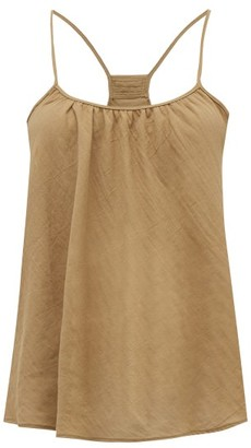 Loup Charmant Scoop-neck Organic-cotton Cami Top - Brown