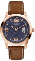 GUESS Blue, Brown and Rose Gold-Tone Classic Dress Watch