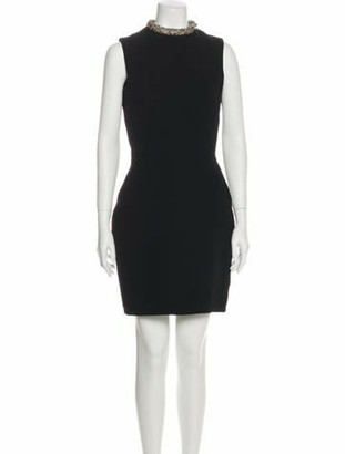 Victoria Beckham Mock Neck Mini Dress Black
