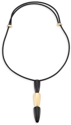 Vhernier Calla 18K Rose Gold & Ebony Tiered Pendant Necklace