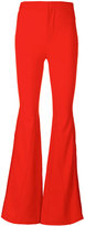 Givenchy flared trousers - women - Silk/Polyamide/Spandex/Elastane/Viscose - 38