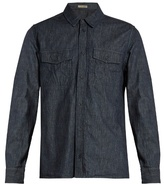 Bottega Veneta Long-sleeved Striped Denim Shirt