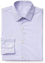 Gap Stretch Poplin gingham standard fit shirt