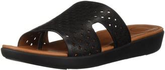 FitFlop Women's H-BAR Slide Sandals-Latticed Leather
