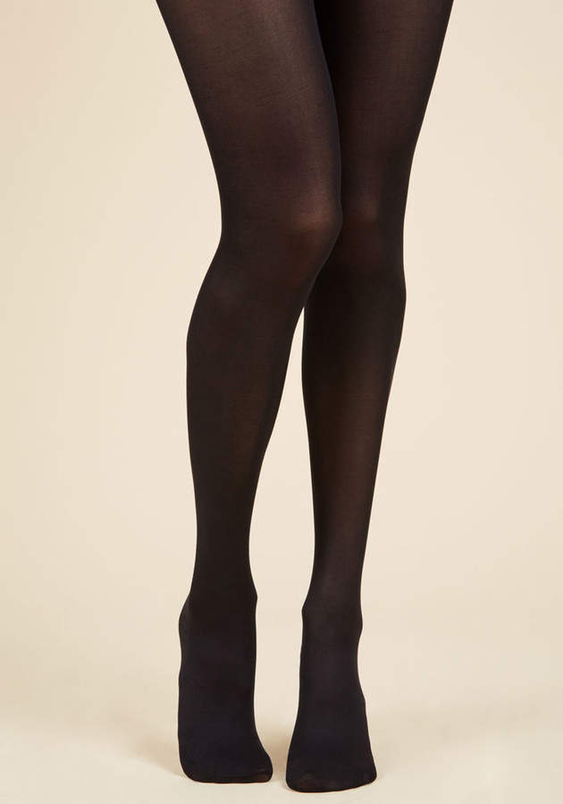 ModCloth Layer It On Tights in Black in S/M