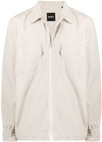 BOSS zipped fitted jacket