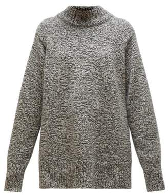 The Row Edmund Mock Neck Cashmere Sweater - Womens - Grey Multi