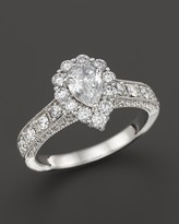 Bloomingdale's Vintage Inpired Diamond Engagement Ring in 14K White Gold, 1.50 ct. t.w. - 100% Exclusive
