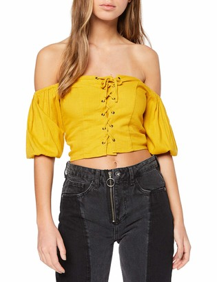 New Look Women's Lace Up Blouse