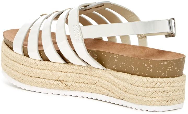 Nature Breeze Gage Platform Slingback Sandal