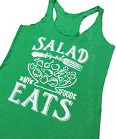 Etsy Womens Tank Top Gym Workout Fitness Funny Salad it is what my food eats carnivore meet Running Shirt