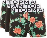 Topman Assorted Colour Rose Print Trunks 3 Pack*