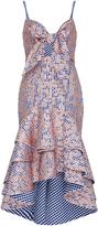 Johanna Ortiz Cotton Camelia Embroidered Dress