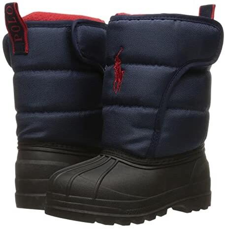Triple Burgundy Nubuck Polo Ralph Lauren Kids Boys Ranger HI II Fashion Boot 4 Medium US Big Kid