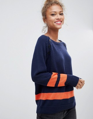 Blend She Slade strike through wool blend sweater