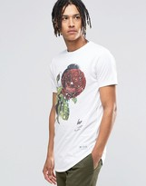 Hype T-shirt With Speckle Rose Print
