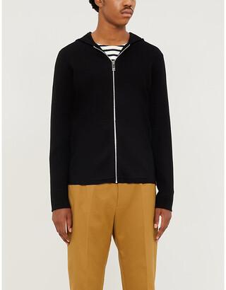 Sandro Wire long-sleeved wool hoody
