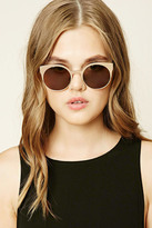 Forever 21 FOREVER 21+ Metallic Cat Eye Sunglasses