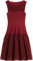 Alaia Ruffled Knit Dress with Wool
