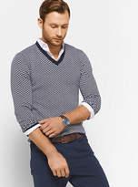 Michael Kors Herringbone Merino Wool V-Neck Pullover
