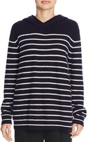 Vince Breton Stripe Hooded Cashmere Sweater