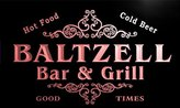 AdvPro Name u02132-r BALTZ Family Name Bar & Grill Cold Beer Neon Light Sign
