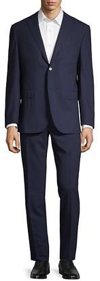 Corneliani Classic-Fit Mini Check Virgin Wool Suit