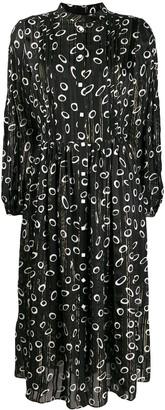 Saloni Long-Sleeve Geometric Dress
