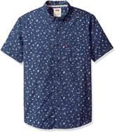 Levi's Men's Foley Short Sleeve Printed Poplin Shirt