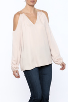 Do & Be Long Sleeve Cold Shoulder Blouse