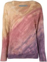 Raquel Allegra tie-dye effect distressed jumper - women - Cashmere/Merino - 1