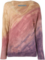 Raquel Allegra tie-dye effect distressed jumper