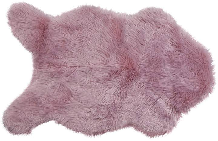 100x75cm Dusky Lilac Argos Home Faux Flokati Rug Graymatics Com