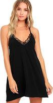 LuLu*s Slipped My Mind Black Lace Mini Dress