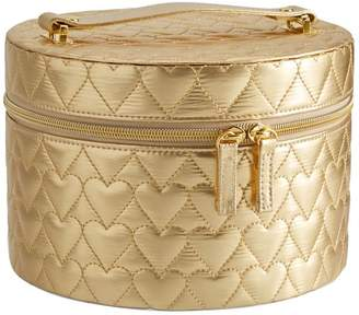 Pottery Barn Teen Metallic Quilted Beauty Travel Case, Gold