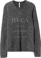 RVCA Junior's Substance Vintage Acid Wash Fleece Sweatshirt