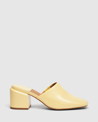cherrichella - Women's Yellow Block Heels - Saxon Mules - Size One Size, 38 at The Iconic
