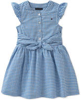 Tommy Hilfiger Tie-front Cotton Gingham Dress, Toddler Girls