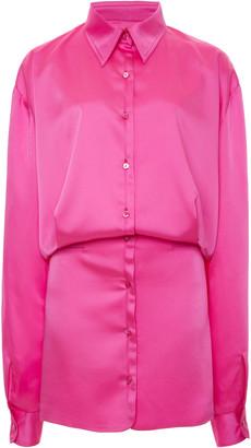 ATTICO The Cotton-Blend Satin Mini Dress