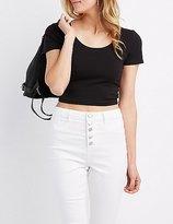 Charlotte Russe T-Back Crop Top
