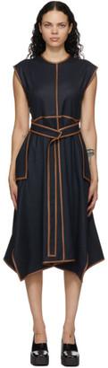 Stella McCartney Navy Wool Belted Eloise Dress