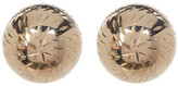 Candela 14K Yellow Gold Textured Ball Stud Earrings