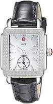 Michele Women's MWW06V000005 Deco 16 Analog Display Swiss Quartz Black Watch