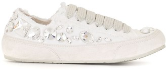 Pedro Garcia Embellished Low-Top Sneakers