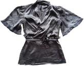 BCBGMAXAZRIA Purple Silk Top for Women