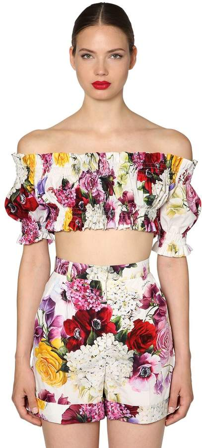 ad8fe0bde83 Poplin Crop Top - ShopStyle