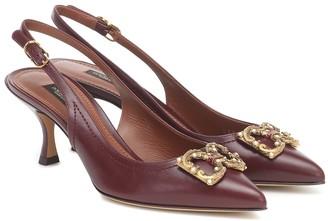 Dolce & Gabbana Slingback leather pumps