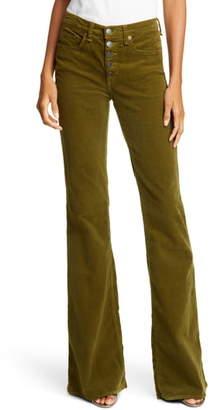 Veronica Beard Beverly High Waist Corduroy Flare Pants