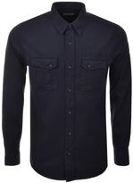 Nudie Jeans Long Sleeved Gunnar Shirt Navy