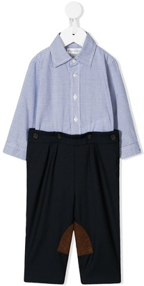 Ralph Lauren Kids Shirt And Trousers Romper